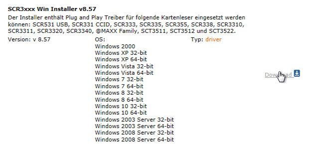 SCR3311 Treiber Download