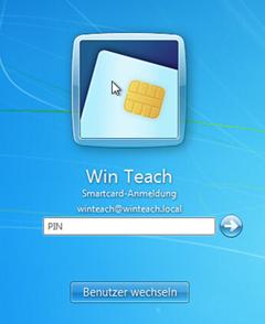 Anmeldung an einer Windows 7 Workstation