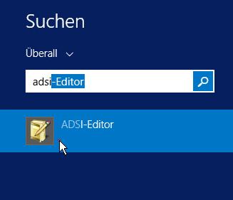Öffnen des ADSI-Editors